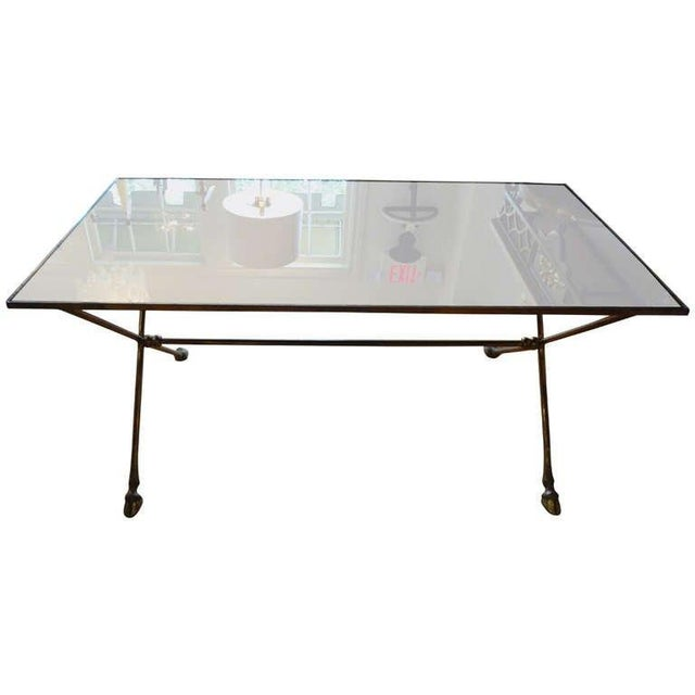 1940s French Rectangular Bronze Cocktail Table For Sale - Image 9 of 9