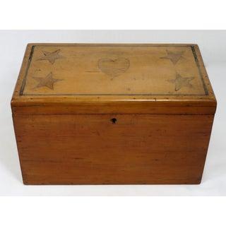 Antique Sailor Made Folk Art Sweetheart Box Preview
