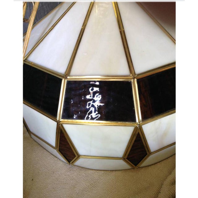 Vintage Tiffany Style Hanging Lamp - Image 6 of 8