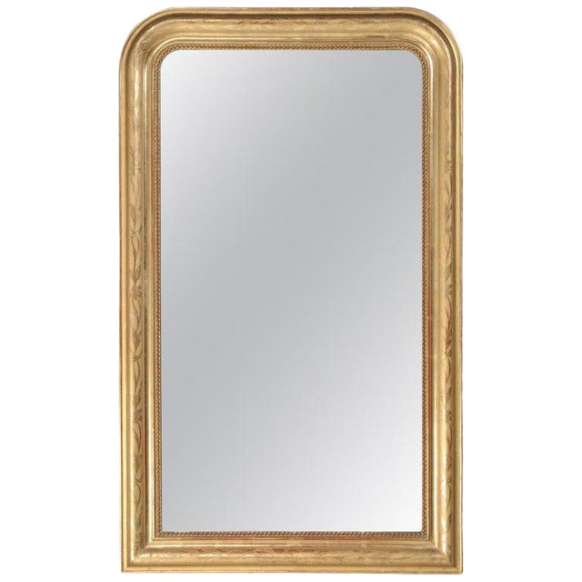 Antique French Louis Philippe Mirror Original Gilding For Sale