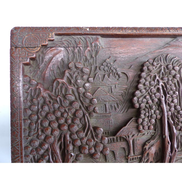 Chinese Teak & Cedar Carved Chest For Sale - Image 10 of 13