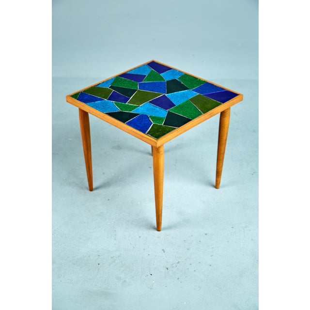 1960 Georges Briard Mosaic Top Side Tables - Set of 3 For Sale - Image 5 of 10