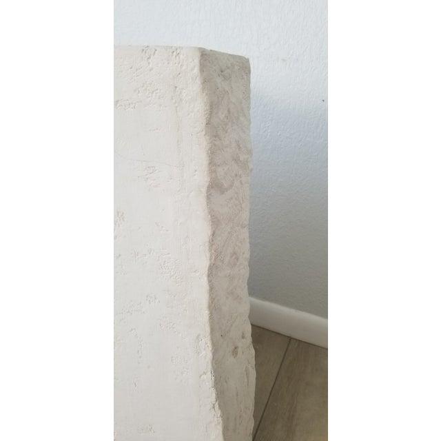 Plaster Postmodern Geometric White Plaster Pedestal For Sale - Image 7 of 12