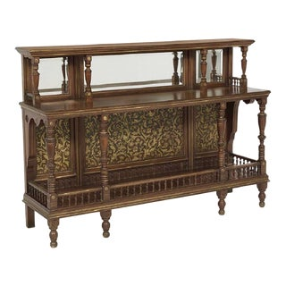 Victorian Period Mahogany Parcel Gilt Server With Beveled Mirrors For Sale