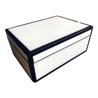 Black and White Lacquered Box For Sale