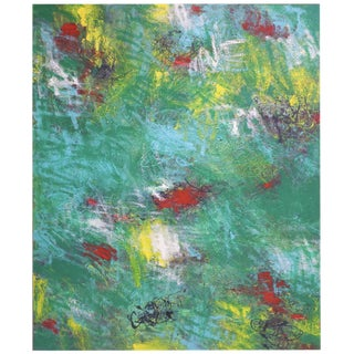 Contemporary Abstract Oil Painting on Canvas For Sale