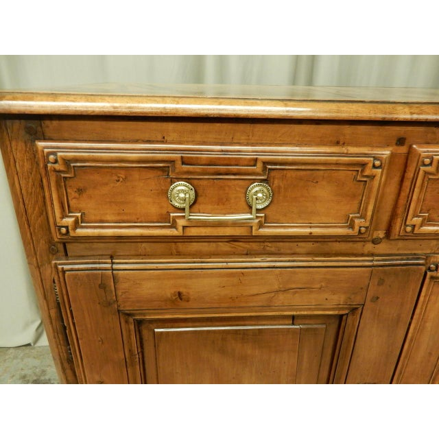 Early 19th Century Early French Walnut 19th Century Directoire' Buffet For Sale - Image 5 of 11