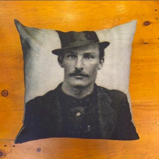 Daguerreotype Mug Shot Throw Pillow Cover - Image 2 of 4