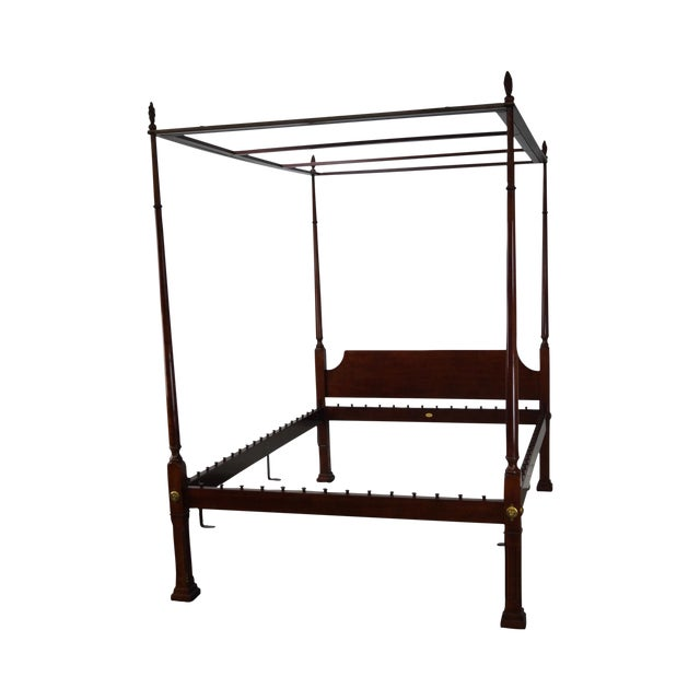 Kindel Queen Size Cherry Poster Canopy Bed - Image 1 of 10