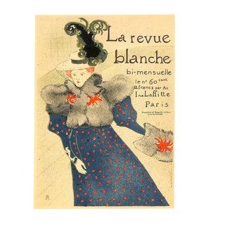 La Revue Blanche, Toulouse-Lautrec, Chromolithograph, 1951, Matted 16x20 For Sale