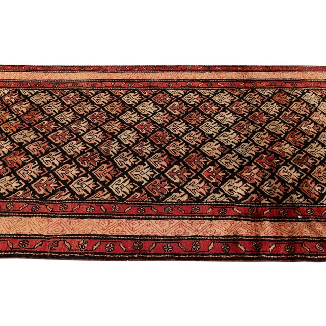 """Textile Vintage North West Persian Rug, 4'5"""" X 10'0"""" For Sale - Image 7 of 9"""