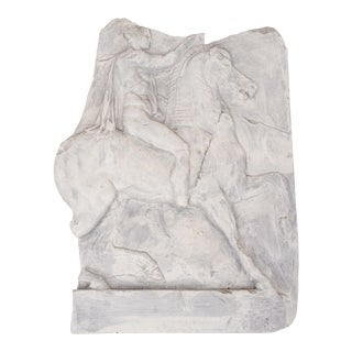 Ancient Roman on Horseback Resin Relief For Sale