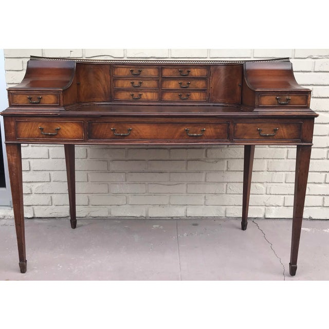 Vintage Kittinger Harpsichord Desk With Chair For Sale - Image 4 of 11
