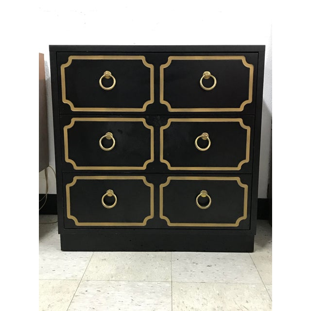 Gold 1980s Hollywood Regency Dorothy Draper Style Chest For Sale - Image 8 of 8