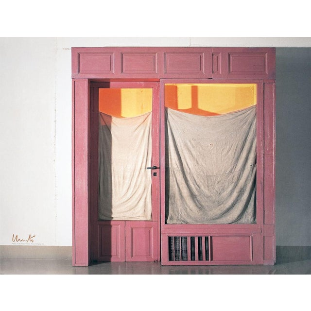 Javacheff Christo- Wrapped Store Front-SIGNED: Signed in the upper left in brown wax crayon by Christo. Offset print in...