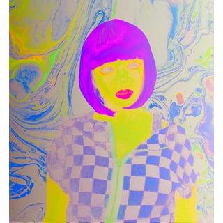Glam Flapper Pop Art Print For Sale