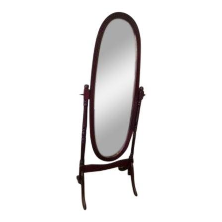 Queen Anne Style Floor Mirror For Sale