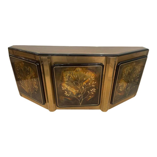 Mid-Century Modern Mastercraft Tree of Life Console or Sideboard For Sale