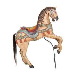 19th Century Petite Carousel Horse on Stand For Sale