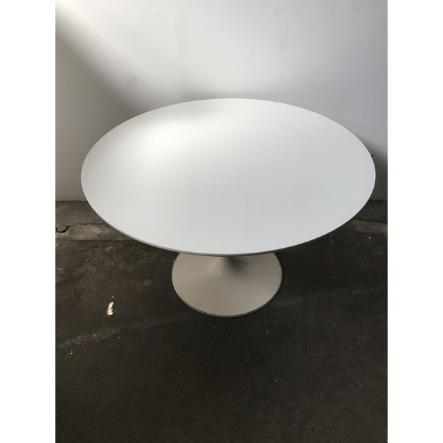 Burke 1960s White Tulip Dining Table - Image 3 of 12