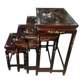 Vintage Rosewood Nesting Tables - Set of 4 For Sale