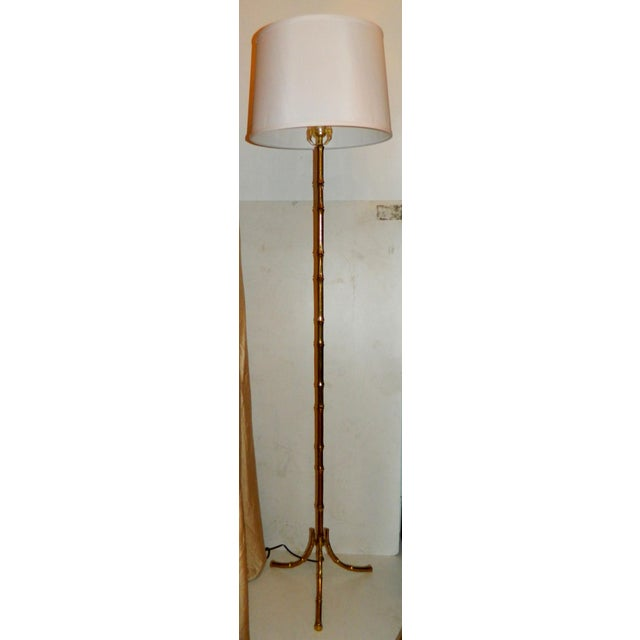 Vintage French Maison Bagues Floor Lamps - Pair - Image 2 of 5
