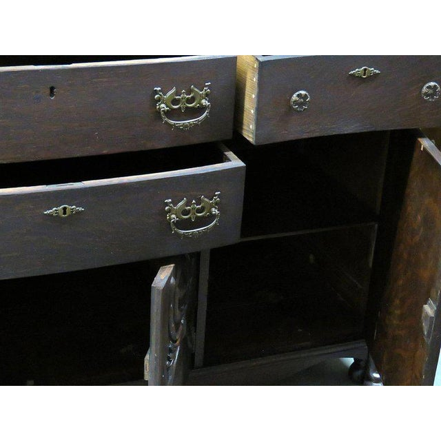 Renaissance Style Sideboard With Superstructure For Sale - Image 9 of 13