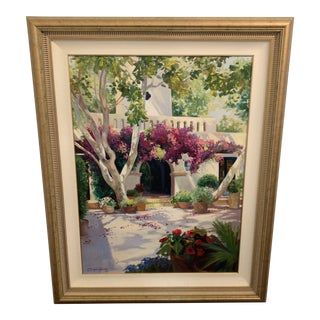 Late 20th Century Carolyne Hawley Oil on Canvas Painting For Sale