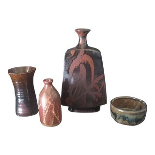Collection of Studio Pottery - Set of 4 For Sale