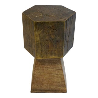 Sculptural Hexagonal Small Accent Table For Sale