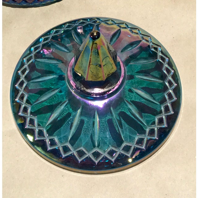 Indiana Glass Co. Mid-Century Carnival Glass Candy Dish - Image 5 of 8