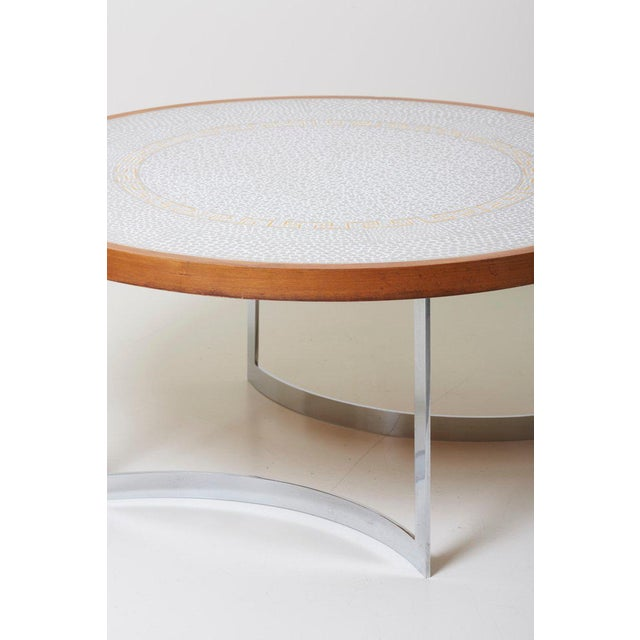 Huge Mosaic Coffee Table by Berthold Müller, Germany, 1967 For Sale - Image 6 of 13