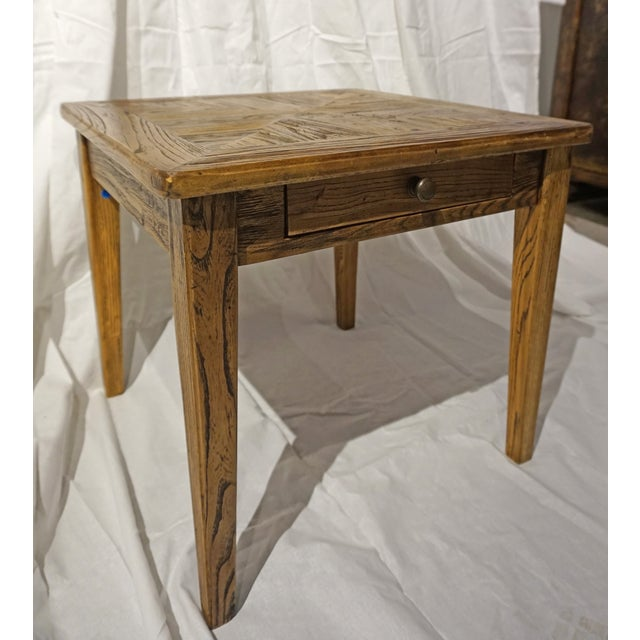 Reclaimed Wood Side Table - Image 3 of 5