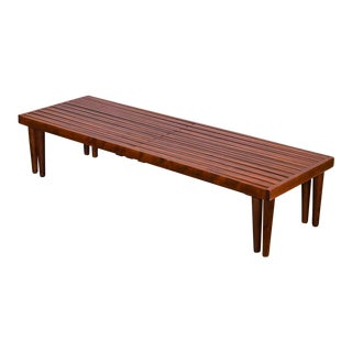Brown Saltman Expandable Slat Bench For Sale
