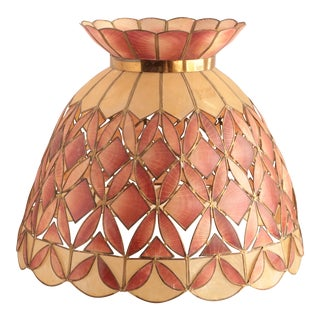 Capiz and Pink Shell Lamp Shade For Sale