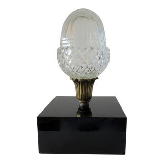 Monumental Crystal Acorn Newel Post Finial For Sale