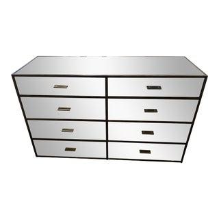 Restoration Hardware Wilshire Antiqued Mirror Panels 8-Drawer Dresser For Sale