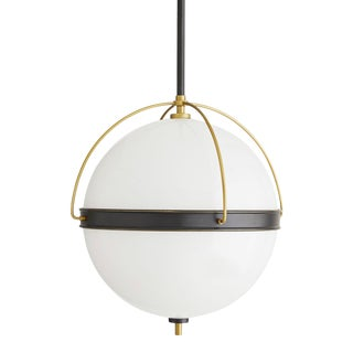 Arteriors Modern Bronze and Brass Finished Round Dorothy Pendant Light For Sale