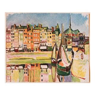 """1948 Raoul Dufy """"Le Port D'Honfleur"""", First Edition Parisian Lithograph For Sale"""