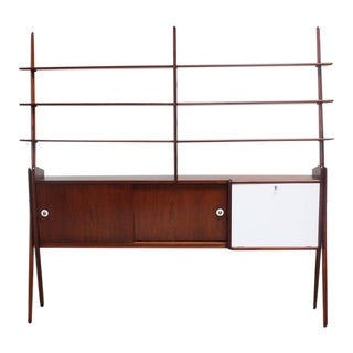 Mid-Century, Italian Modern Freestanding Wall Unit For Sale