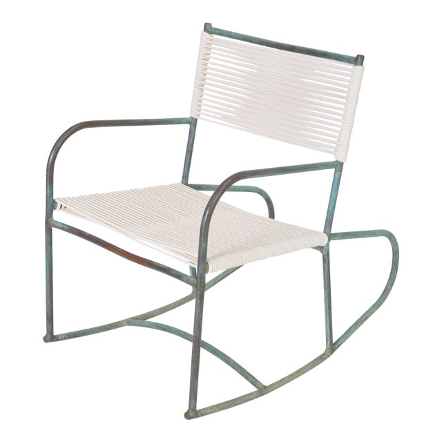 Early Model Walter Lamb Patio Rocking Chair For Sale
