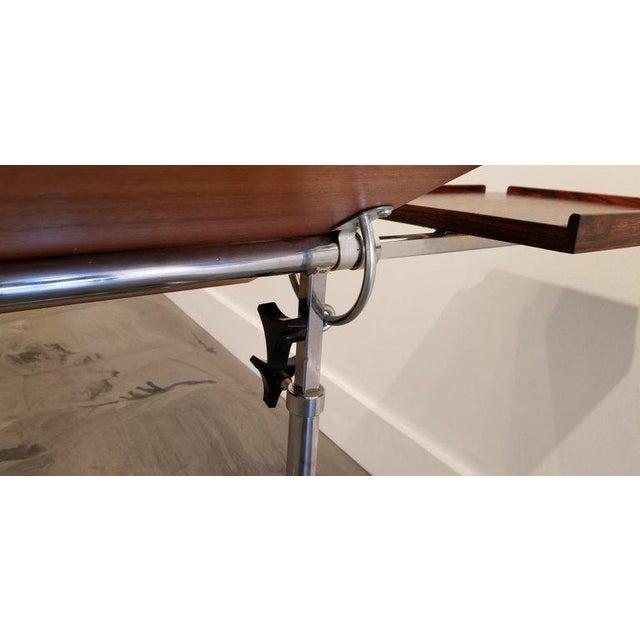 Chrome Danecastle Aps Rosewood Adjustable Bedside Desk or Table For Sale - Image 7 of 13