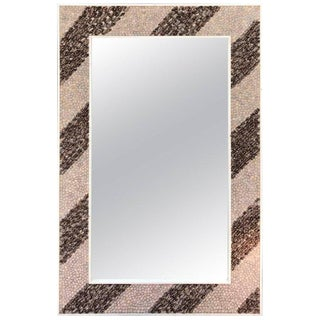 Rectangular Shell Mosaic Frame Mirror Art For Sale