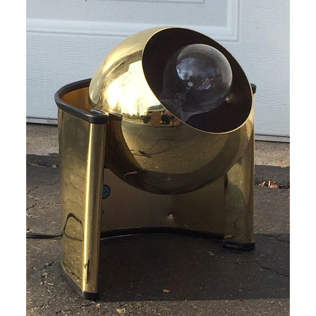 Mid-Century Golden Table Lamp - Image 2 of 7