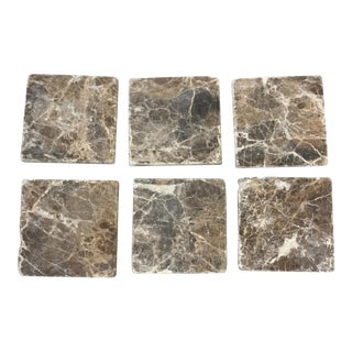 Natural Stone Coasters- Set of 6 For Sale