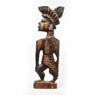 Vintage Carved Wood African Woman Sculpture Preview