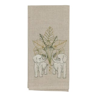 Elephant Grove Tea Towel For Sale