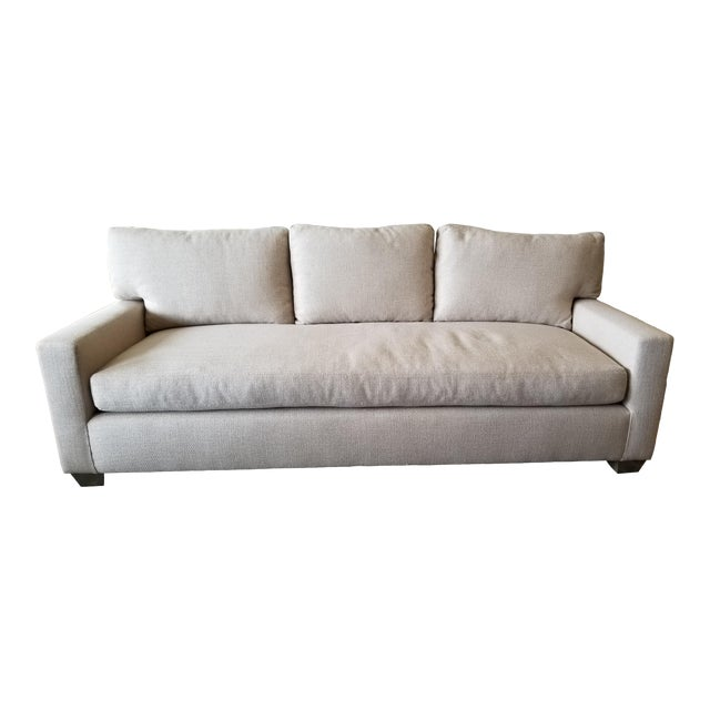 Contemporary -DL Rhein Design Belgian Linen Sofa For Sale