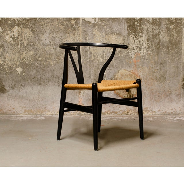 1980s Han Wegner Wishbone Chairs- Set of 6 For Sale - Image 5 of 6
