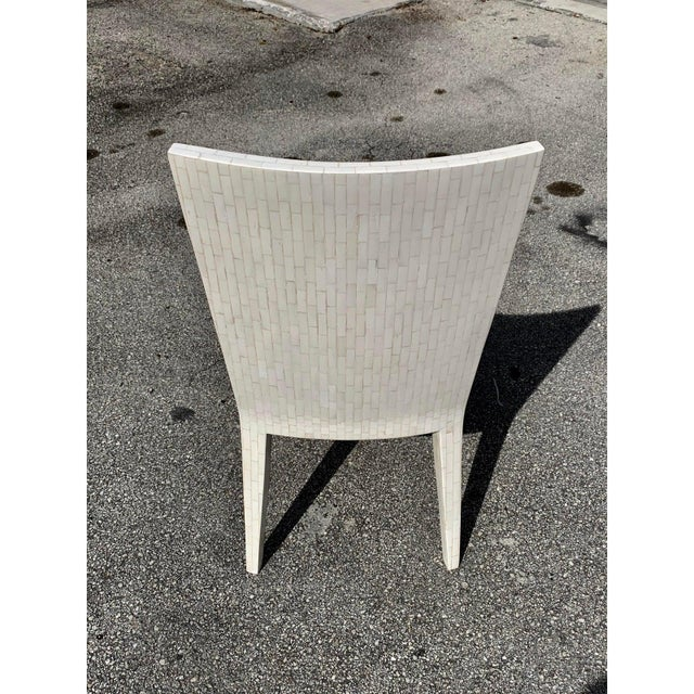 Dining Chairs by Enrique Garcel Tessellated Bone 1970s - Set of 6 For Sale - Image 10 of 13